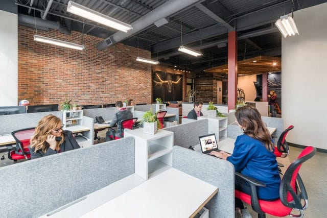 Open Coworking Space with People Working
