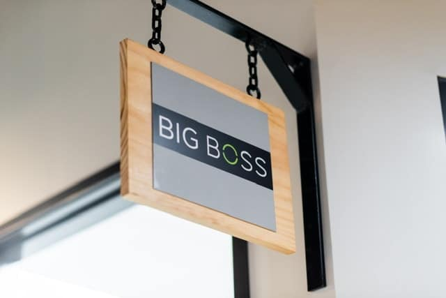 Big Boss Meeting Sign